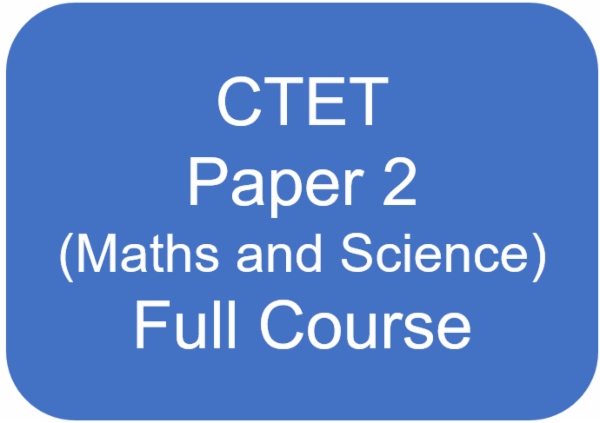 CTET - Paper 2 (CDP + English + Hindi + Maths + Science) Full Course cover