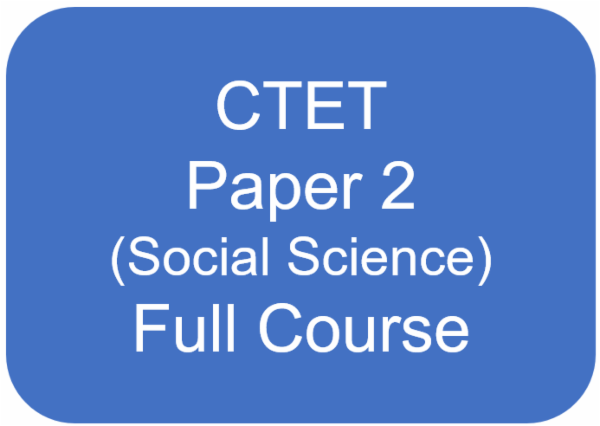 CTET - Paper 2 (CDP + English + Hindi + Social Science) Full Course cover