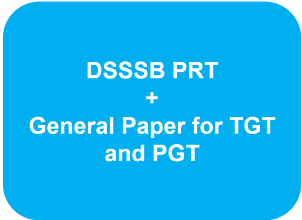 DSSSB PRT Full Course + General paper for TGT and PGT cover