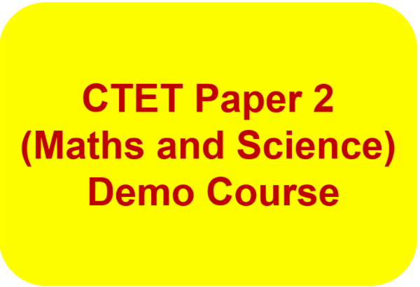 CTET Paper 2 (Maths and Science ) Demo Course cover